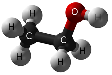 Ethyl Alcohol Molecule - DrunkDrivingDefense.com