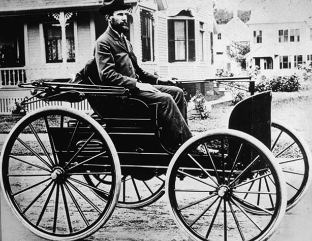The First Gasoline-Powered Automobile in America