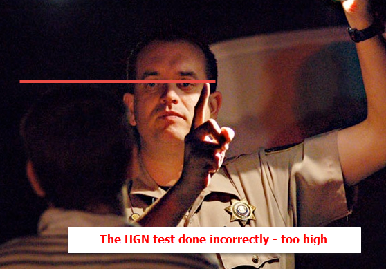 DUI Eye Test Incorrect